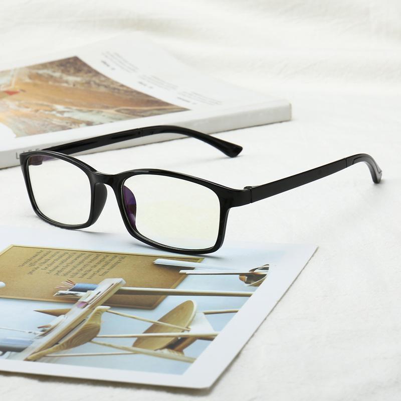 Анти-голубые очки для чтения +2.5 +3,5 TR90 Ультра-свет Ретро смолы прозрачные линзы Женские мужские читатели носить пресбиопические очки1