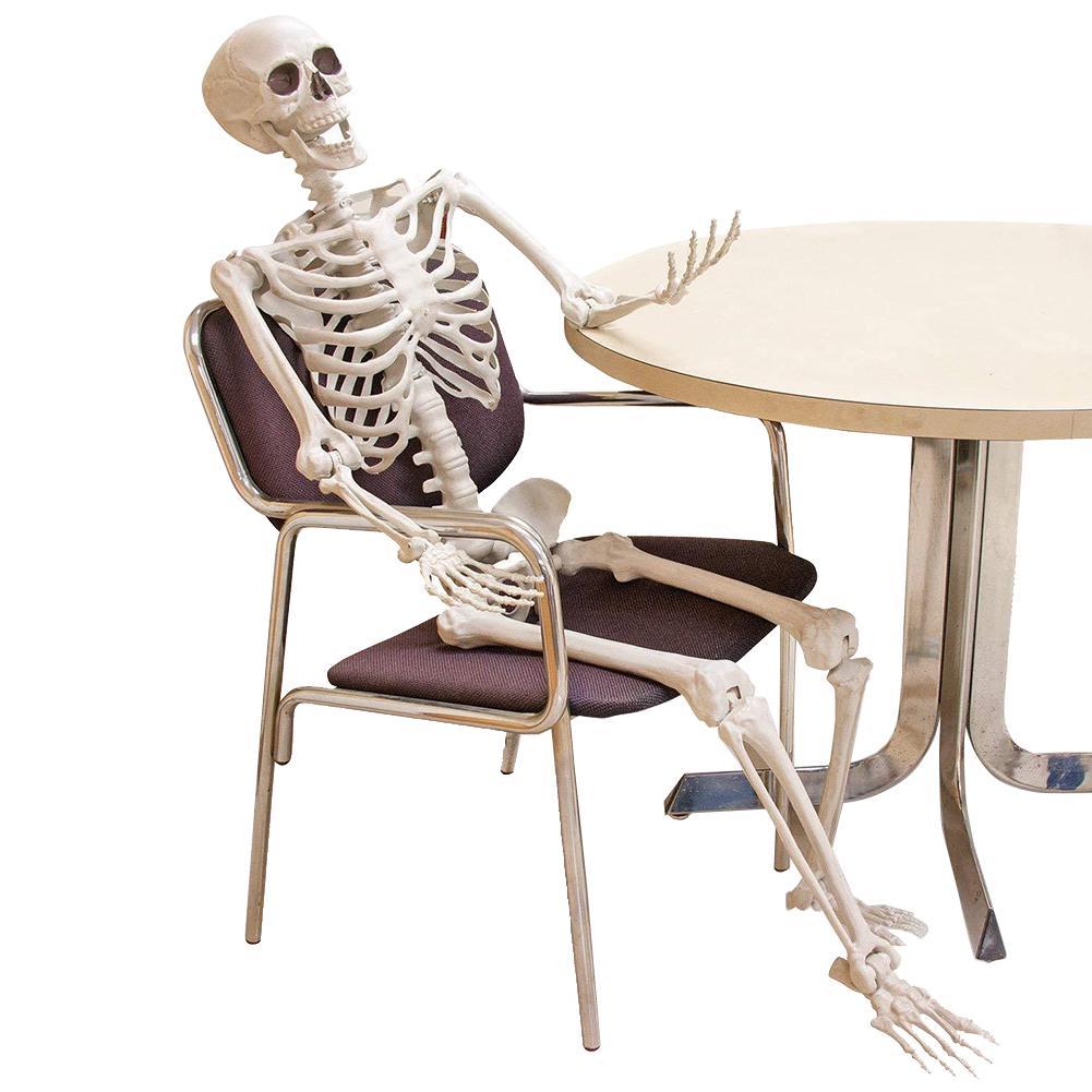 Оформление Полный размер жизни Тело Prodable Висит Искусственный Человеческий Скелет Ремесла Ужас Привидения Дом Дом Главная Вечеринка Prop Halloween Y201006