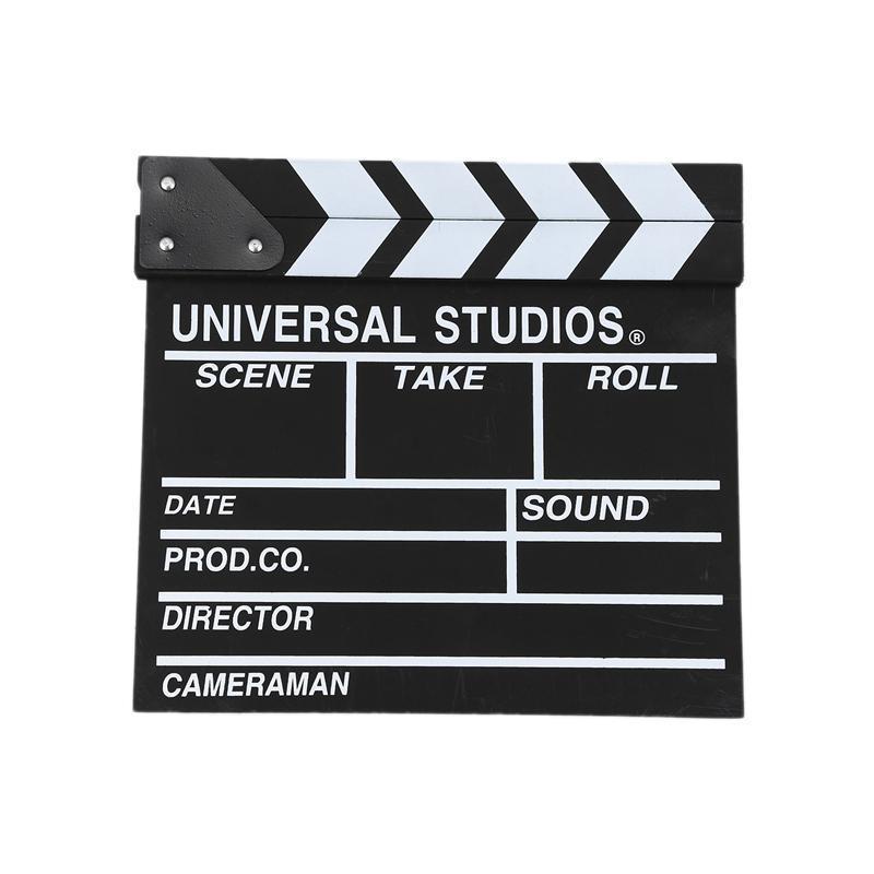 12x11 polegada / 30cm x 27cm diretor de madeira filme filme claquete