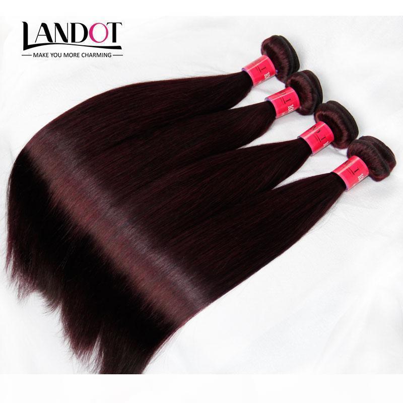 Vin de la Bourgogne Couleur rouge 99J Vierge Brazilian Virgin Hair Weave Bundles Malaysian Indien Soyeux Silky Silkin Remy Silk Virgin Remy Remy Human Remy
