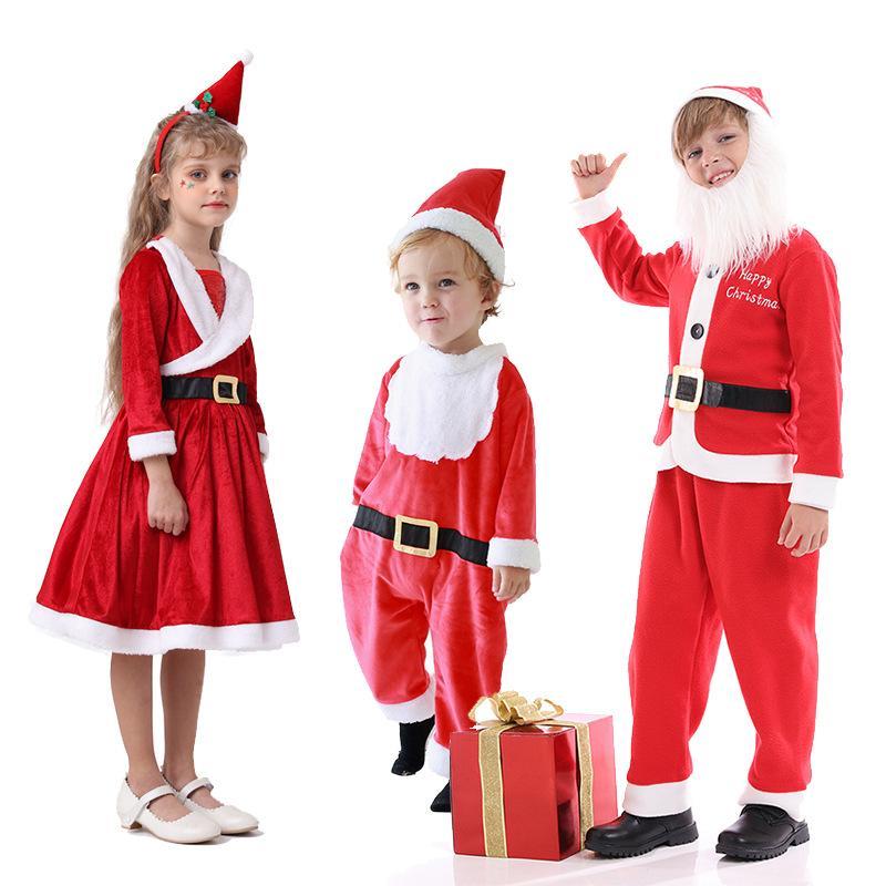 Traje de santa Navidad, niños, niños, trajes, niños, niños, y, niñas, vestidos, accesorios, se adapta a los bebés, cosplay infantil