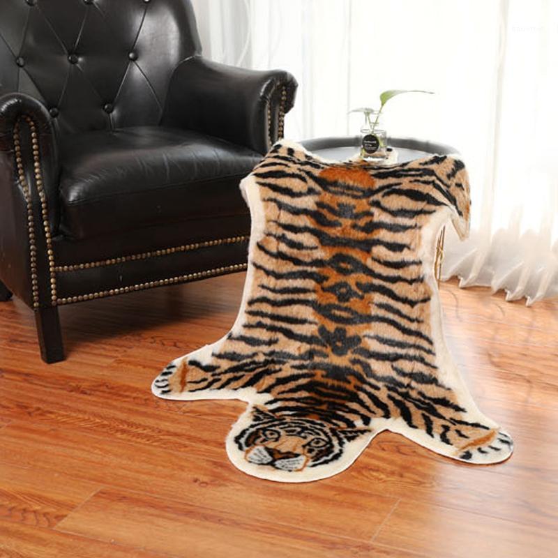 Модный ковер тигр принт из искусственного не скольжения противоскользящий коврик для животных печати Carpet1