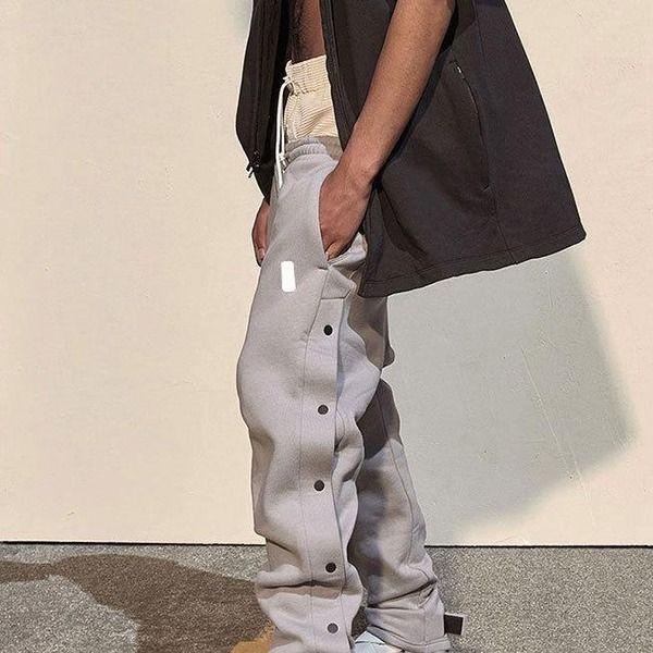 20FW Мужские Joggers Мода Рисунок Однорассудные спортивные штаны Мальчики HIPHOP Новые брюки Открытый Весна Новые трексуты с высоким качеством