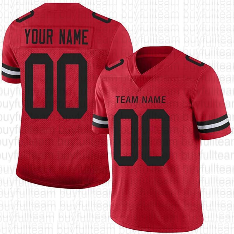 Diseño personalizado su propio jersey de fútbol rojo 69