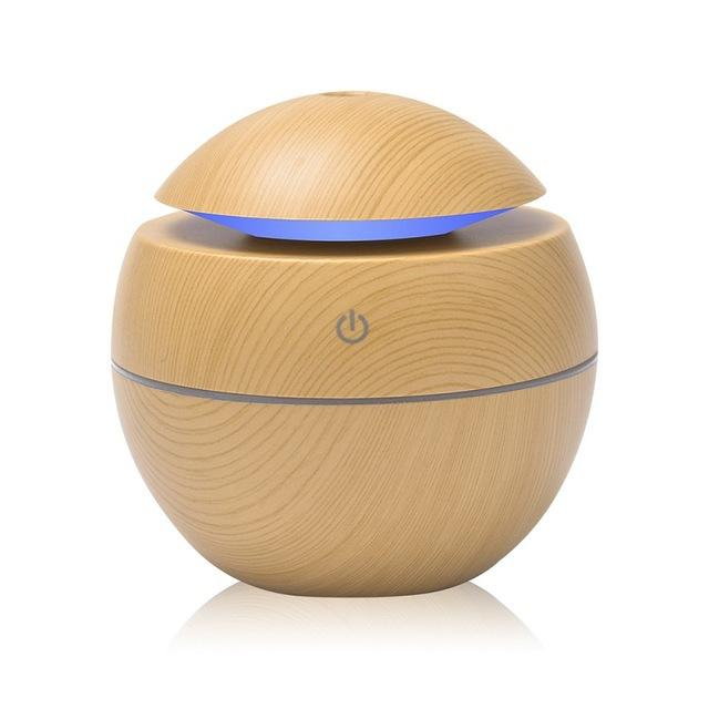 Ultrasonic Cool Mist Humidifier 130ml Multifunction USB Aroma Essential Oil Diffuser Air Purifier 7 Color Change LED Night Light for Office