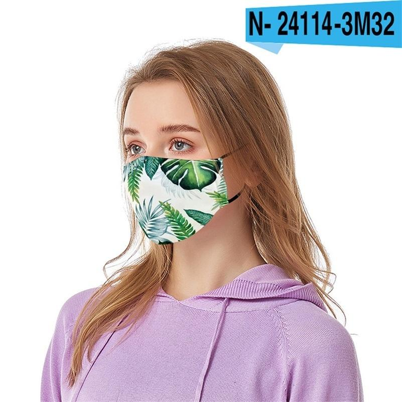 Leaf 3D printed designer with filter dust-proof mask personalized parody cross-border breathable face masks