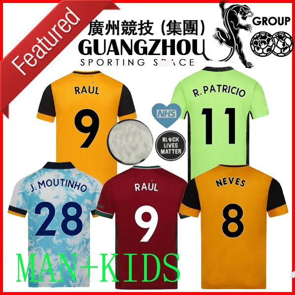 2020 2021 Wolves N.Semedo Jerseys de football 20 21 Fabio Silva J.Moutinho Raul Neves Podence Adama Men Kids Gardien de but Football Shirts