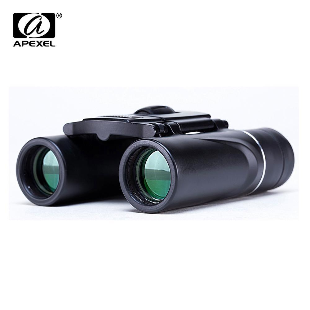 Rango Apexel Mini 8x21 binocular con zoom largo 3000m plegable Alta Definición potente telescopio Bak4 Fmc Óptica caza deportiva de excursión que acampa T190627