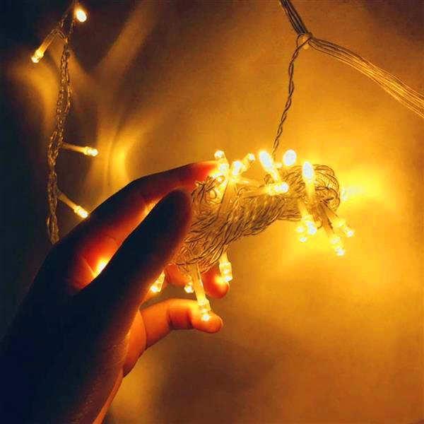 خصم 3 متر × 3 متر 300-LED الدافئة الضوء الأبيض الرومانسية عيد الميلاد الزفاف في الهواء الطلق الديكور الستار جودة عالية سلسلة ضوء