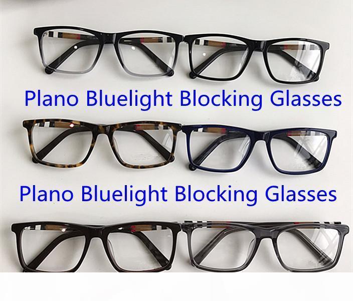 Neue Qualitätsbildliche rechteckige Unisex-Brille Rahmen Plano Bluelight-Blockiergläser 54-17-140 Plaid-Planke für das verschreibungspflichtige Fullset-Fall