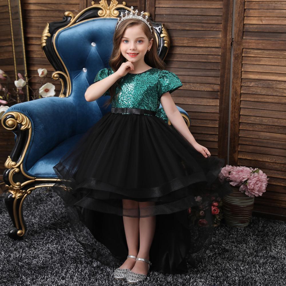 Flower Christmas Kids Ropa princesa para niñas vestido de fiesta de noche vestido de fiesta para niños 8 10 12 14 años
