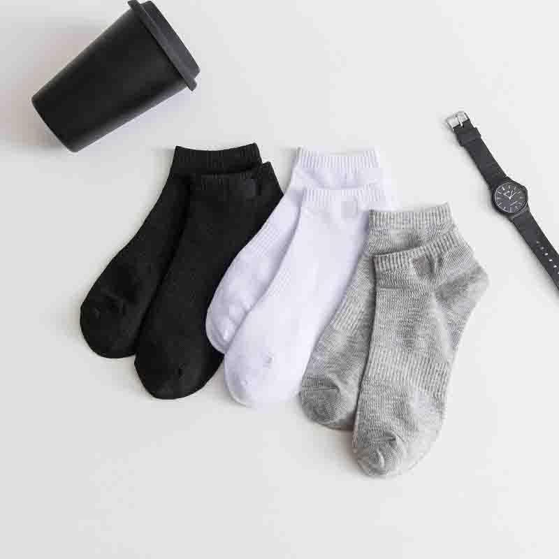 Meios de barco de mens primavera e outono moda nova carta bordada amanhola meias casuais homens respiradores slippers tamanho livre