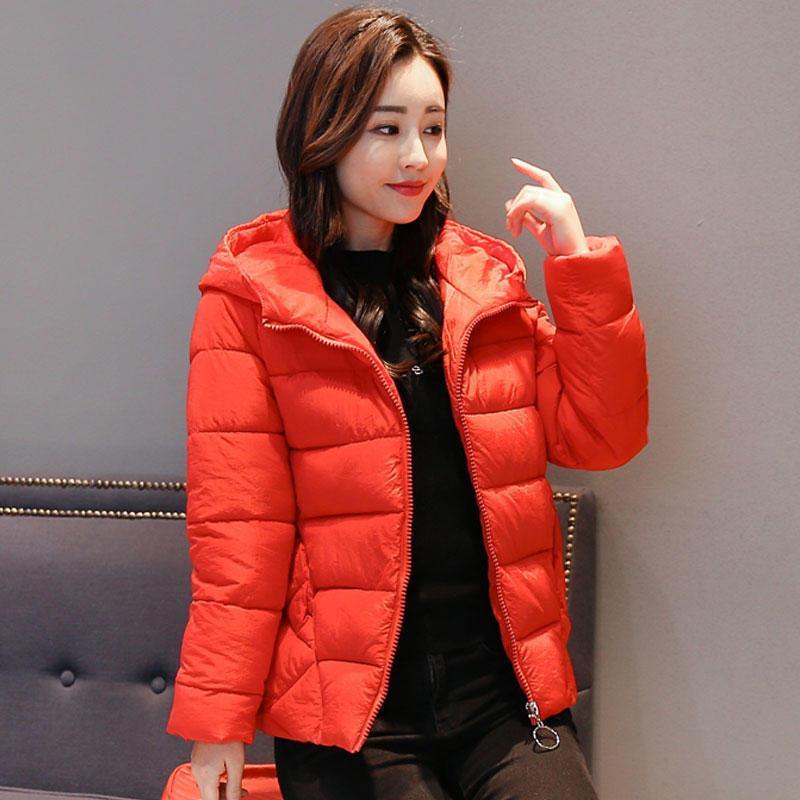 Mulheres para baixo parkas jaqueta de inverno mulheres roupas casuais casaco de algodão espesso quente fêmea acolchoado plus size hooded jaqueta feminina q3169