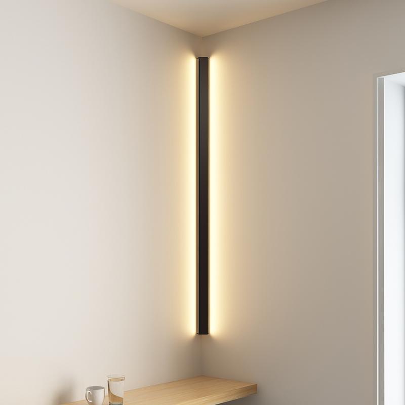 Modern Köşe LED Duvar Lambası Minimalist Kapalı Işık Fikstürü Duvar Aplikleri Merdiven 100 cm 150 cm Yatak Odası Başucu Ev Koridor Işık