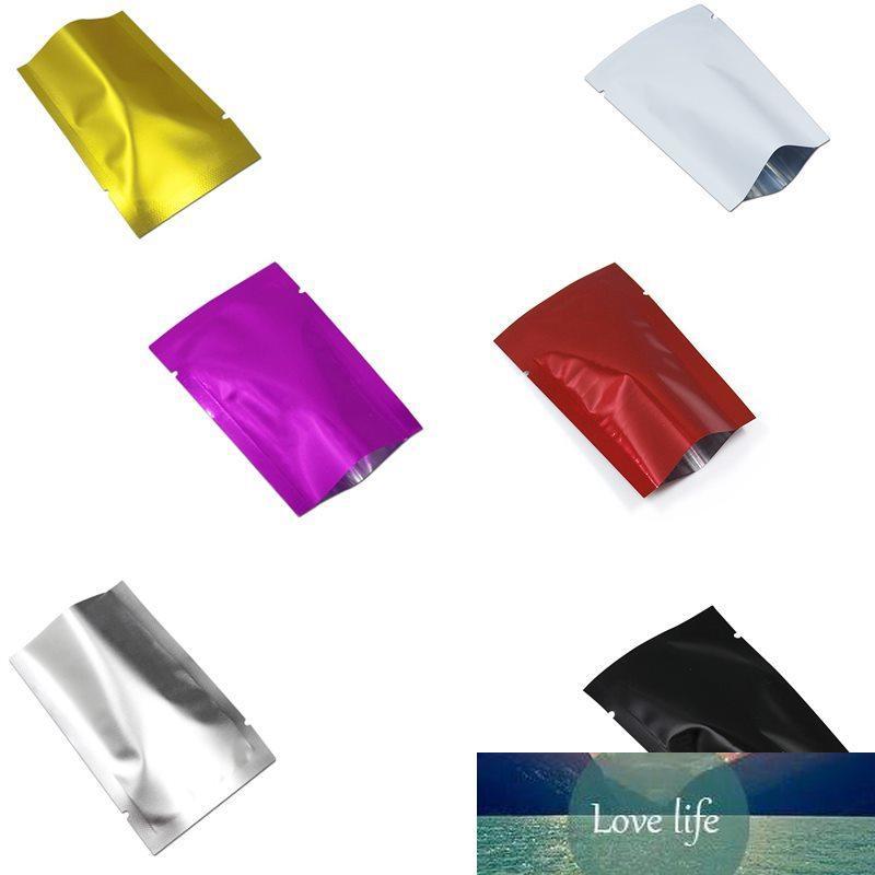 500pcs 5x7cm Sacs d'aluminium multi-couleurs multi-couleurs ouverts Sacs à langer thermique TOP TOP TOPH Sacs de stockage de chocolat bonbons Décoration de mariage