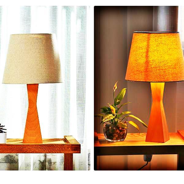 En iyi Malzemeler Özlü Modern Stil Yüksek dereceli Ahşap ve Bez Malzemeler Yaratıcı Moda Göz Koruma Masa Lambası Işık Kaynağı Ile ABD Fiş