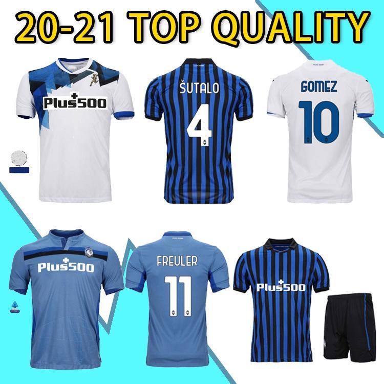 2020 Atalanta 2021 Atalanta B.C. Jersey de futebol # 10 Piccini 21 # Gomez # 72 Ilicic 20 21 homens Maglietta da calciatore