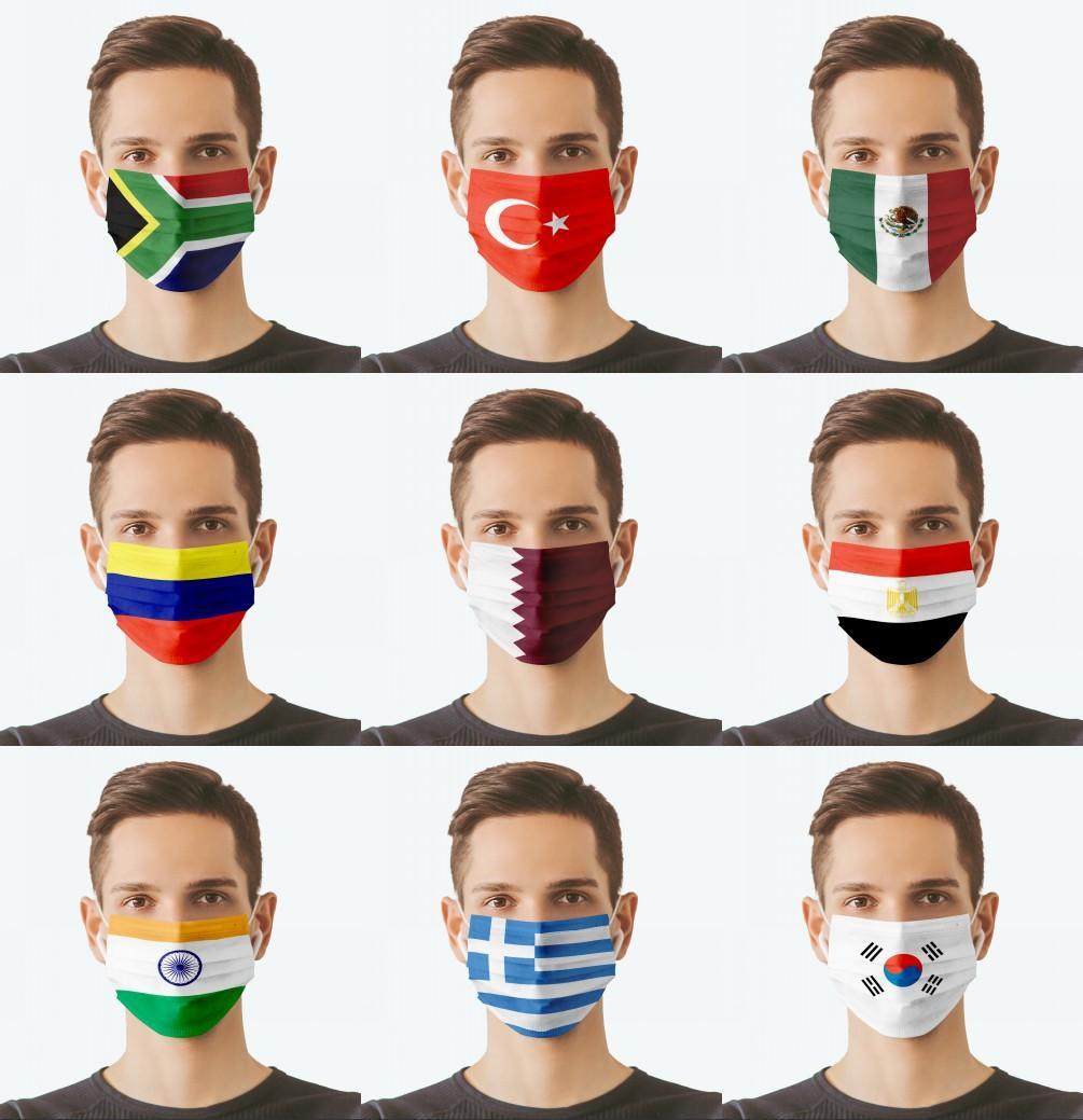2021 Máscaras de la bandera de los EE. UU. 3 Capas Lavable RESUBLE PERSONALIZACIÓN DE PIEZA APROXIMADA DE LA BOCA DE LA BOCA DE LA BOCA DE LA BOTAS DE LA BOTAS DEL DISEÑADOR Partido Christams Máscara