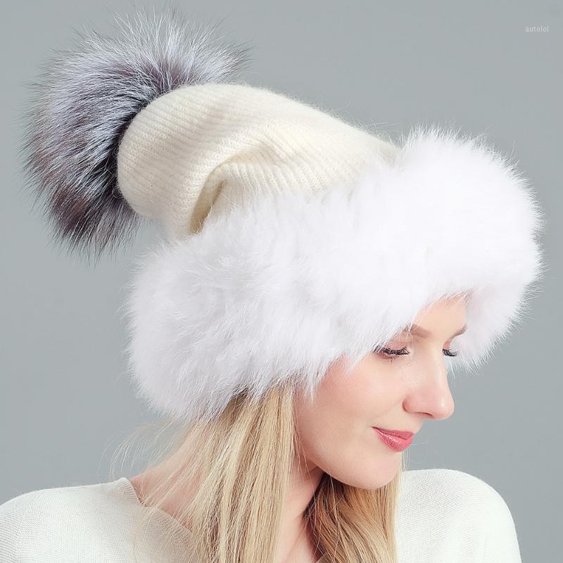 Зимние шерсти для волос и шерстяные шляпы для женщин теплые моды большой помпом женские кепки новые твердые вязаные шапочки1