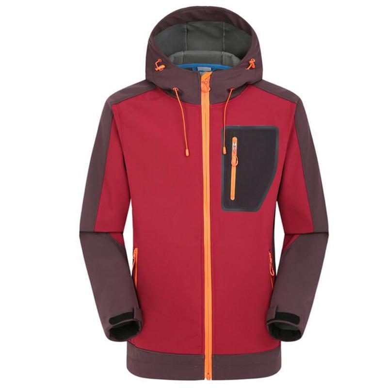 Softshell in pile giacche mens inverno antivento antivento impermeabile cappotto con cappuccio all'aperto campeggio da pesca escursionismo pioggia giacca da caccia vestiti