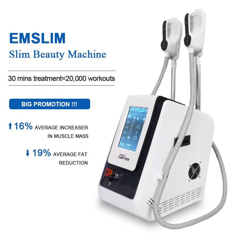 2021 EMSLIM 하이 EMT 성형 기계 EMS 전자기 근육 자극 지방 굽기 바디 슬리밍 기계 HIEMT 미용 장비