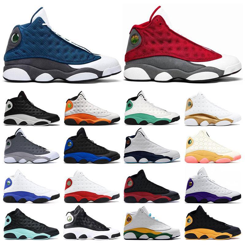 남성 운동화 13 농구 신발 13s 레드 플린트 어두운 분말 블루 불가사리 하이퍼 로얄 여성 스포츠 트레이너 운동화 크기 5.5-13