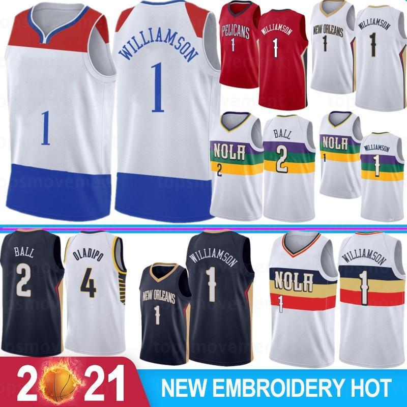 NCAA Zion 1 Williamson Lonzo 2 Ball Men Basketball Jerseys Victor 4 Oladipo RJ 9 Barrett Derrick 25 Rose S-XXL Stock 2021 New