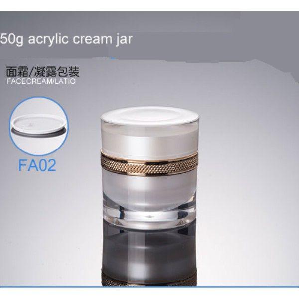 300 teile / los Luxus 50g / ml Leerer Acrylkosmetik-Glas-Töpfe Makeup-Werkzeug-Gesichtshaut-Creme-Container