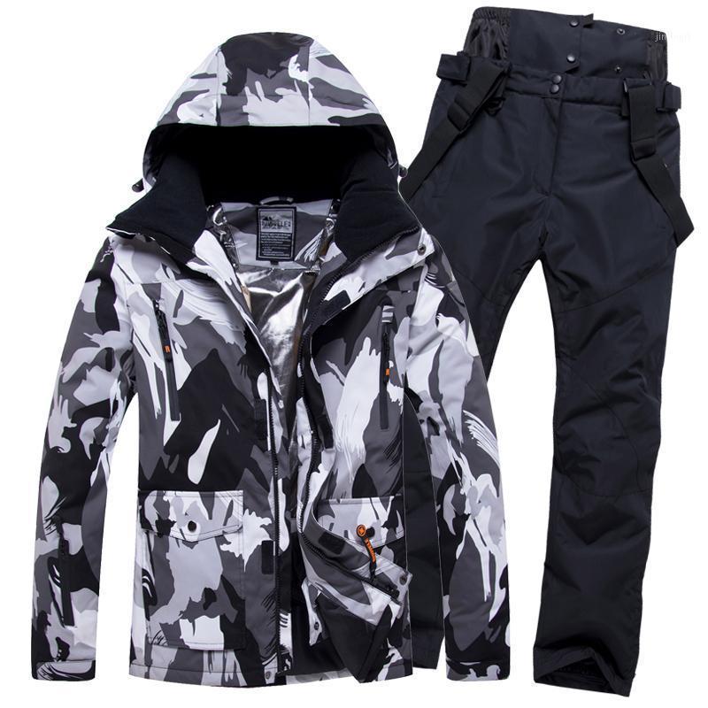 2020 erkekler snowboard giyim pantolon kayak takım kayak ceket pantolon süper sıcak açık spor giyim erkek rüzgar geçirmez su geçirmez Winter1