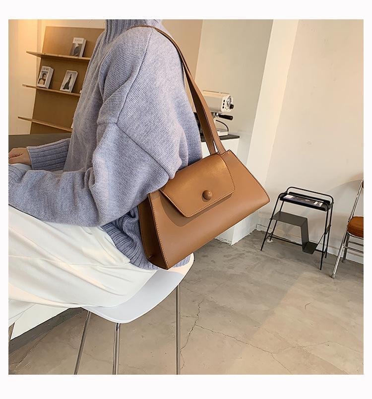 Frauen Retro Ledertasche Handtasche PU Schulter Unterarm Vintage Griff Reisedesigner Luxus Weibliche Top Tote Ospfg