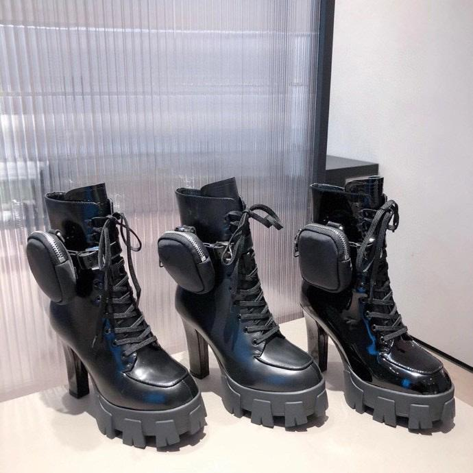 2021 New Desiner Mujeres Boot Boot Boots Martin Boots Nylon Bouch Botas de Combate Ladies Outdoor Thick Bothes Boods Boot