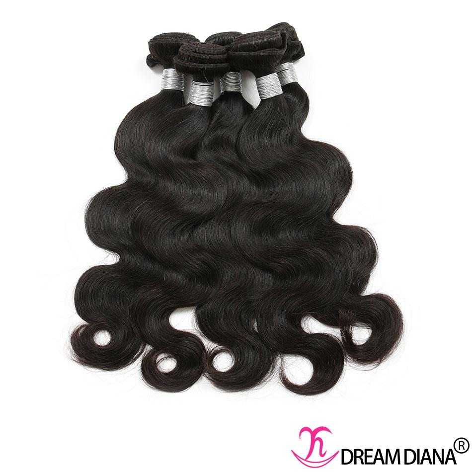 Brasili Brasiliani Capelli Vergini Body Wave Bundles 100% Capelli Umani Teaves Color Natural 3/4 Bundles Remy Same Direction Cuticle Grado 10A