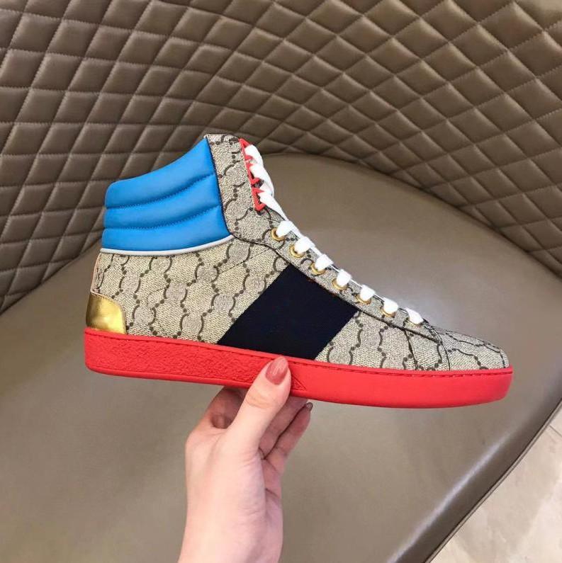 40% İndirim İtalya Tasarım En Kaliteli Şerit Yeni Tasarımcı Ayakkabı ACE Işlemeli Erkek Gerçek Deri Tasarımcı Sneakers Kadın Adam Rahat Ayakkabılar