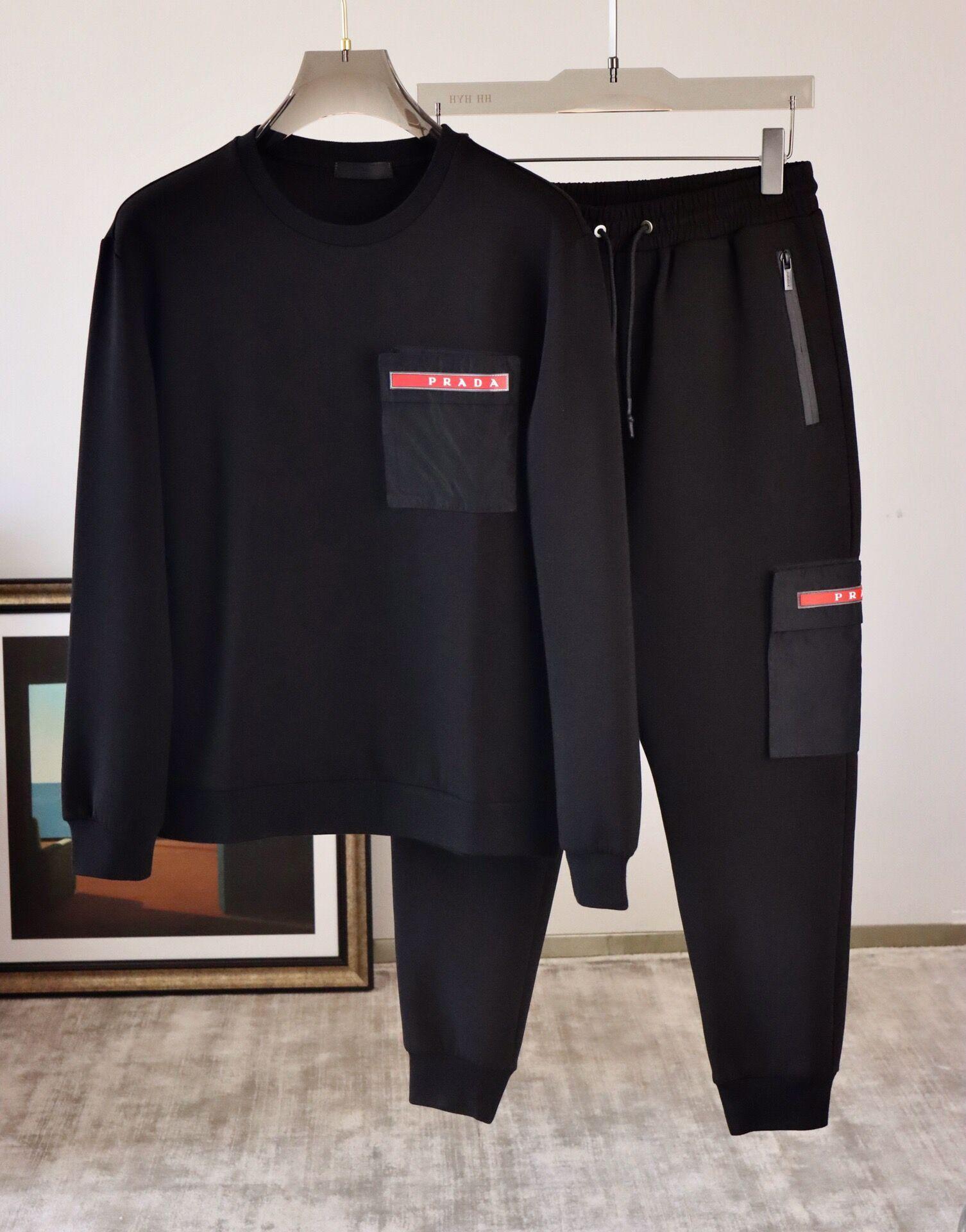 2020 Winter Designer Mens Trainingsanzug Runder Halsband Luxus MEN S Track Anzug High Qulaity Man Designer Kleidung Sweatsuits