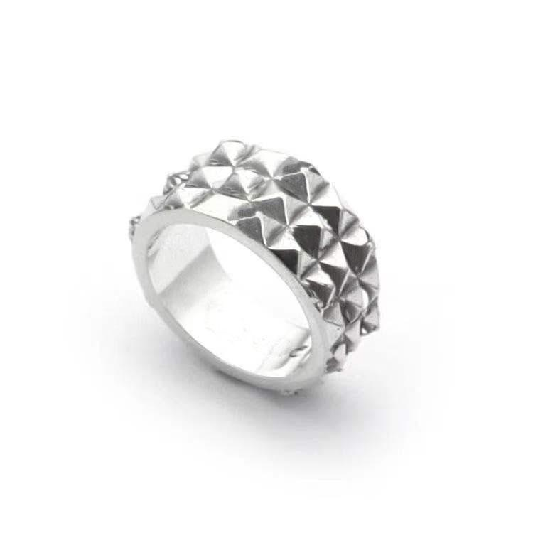 Popular fashion cross rivet rings bague anillos for mens and women Party vintage rock Lovers gift hip hop jewelry
