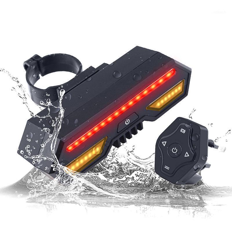 2200mAh luz de bicicleta inteligente com controle remoto sem fio à prova d 'água Bicycle Traseira USB carregada LED Taillight1