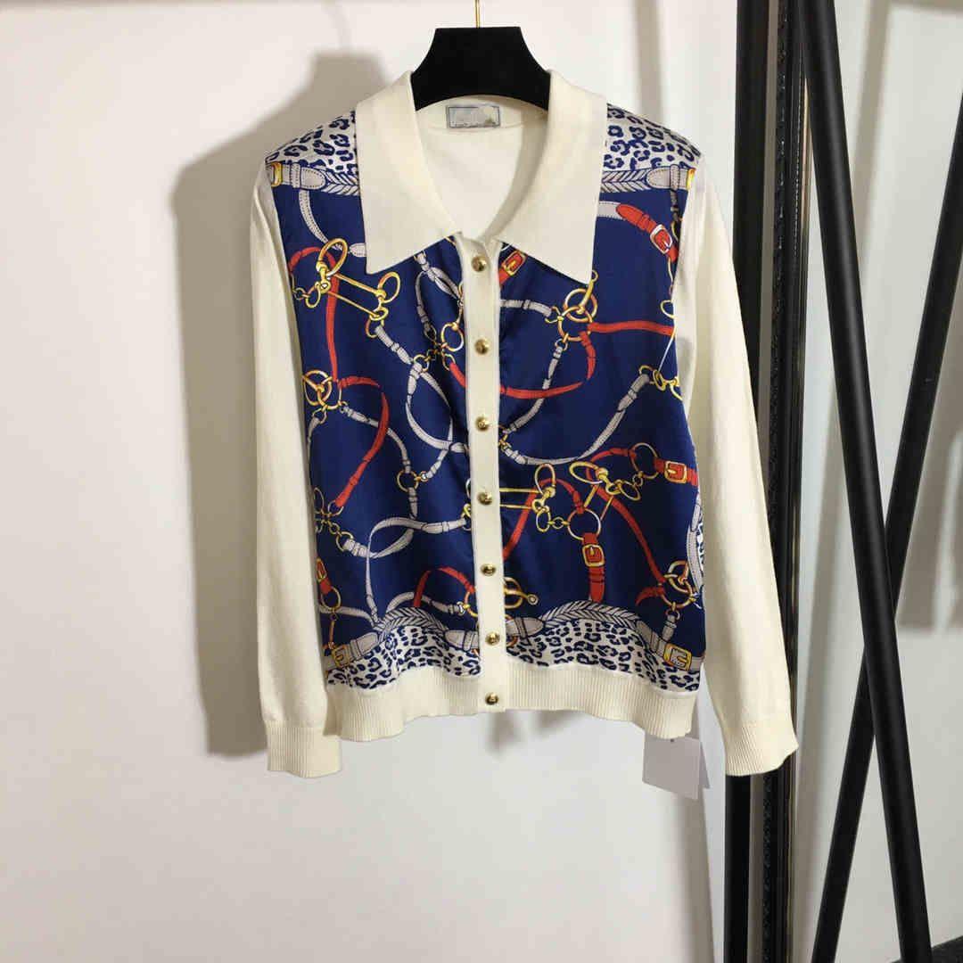2021 Bahar Uzun Kollu Yaka Yaka Milan Pist Gömlek Tasarımcı Gömlek Marka Aynı Stil Gömlek 1228-25