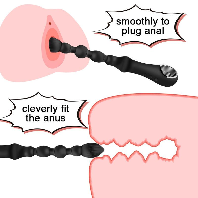Q1119jouets Vibrating Heating Beads Anal Butt Plug Anus Massager Women For Plug For Men Adults Prostate Stimulate Erotic Sex Toys GUIMI Tqll