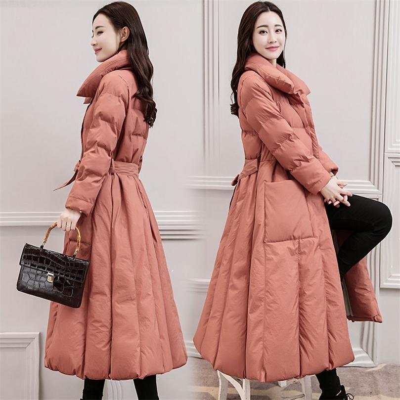 Aşağı Pamuk Yastıklı Ceket Kaban Kadın Uzun Parkas Mujer Kalın Kış Ceket Kadınlar Sıcak Artı Boyutu Ceketler Palto 3XL C5700 201211