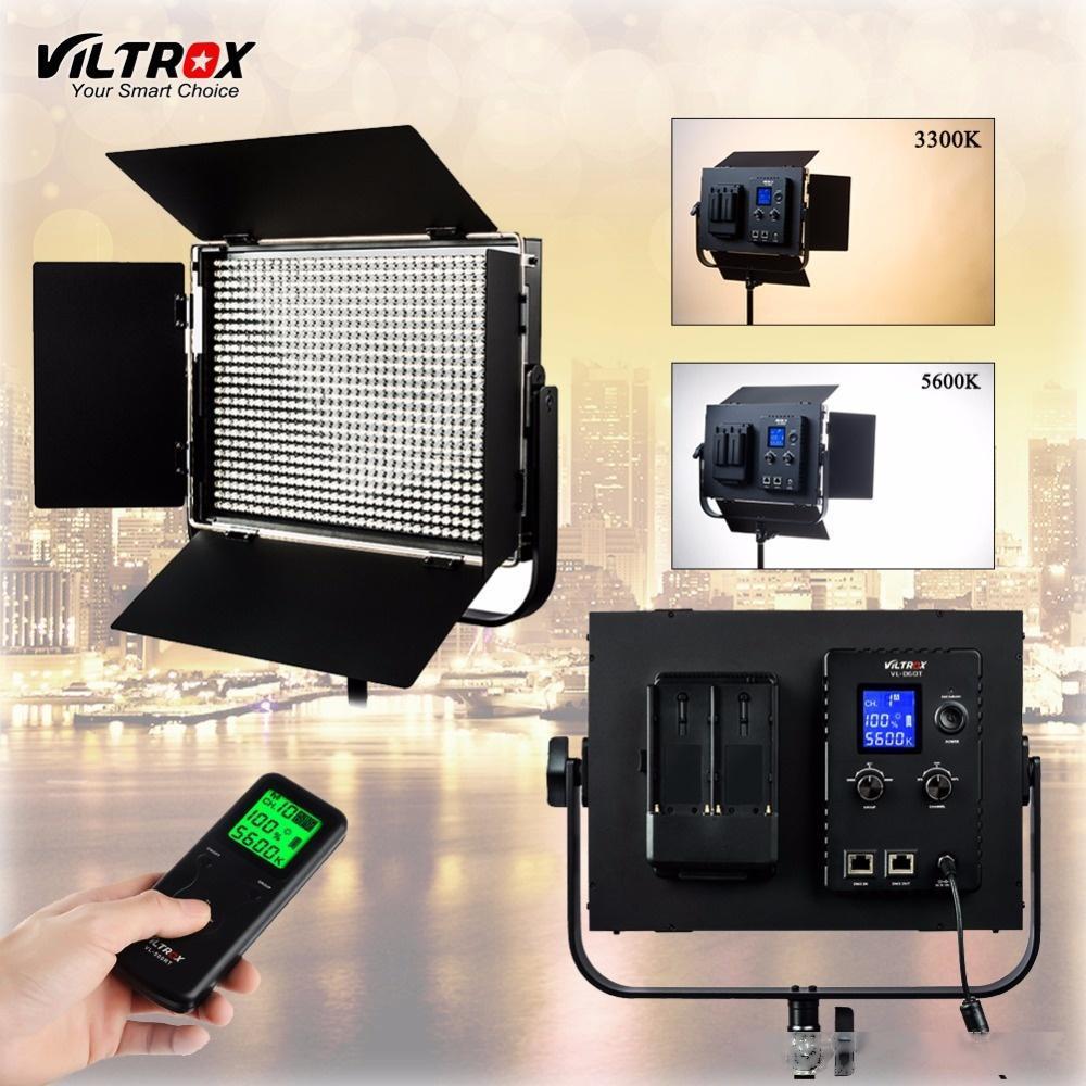 vendita all'ingrosso VL-D60T Video LED Luce 60W Slim Bicolor dimmerabile LCD 3300K-5600K per il controllo remoto Studio videocamera portatile senza fili