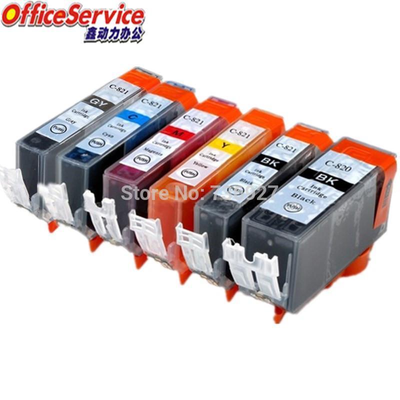 Cartucce d'inchiostro Cartuccia compatibile per Canon PGI-820 CLI-821 PGI820XL CLI821, tuta MX868 MX876 MP545 MP558 MP568 MP628 MP988 Stampante