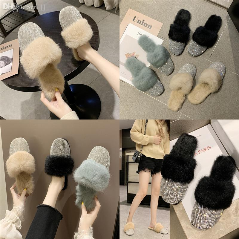 46tca Donne Pelliccia DesignerRy DesignerRy Letter Pantofole da lanugine con scarpe casual in pantofola Stivali di alta qualità Moda Moda di cotone di lusso