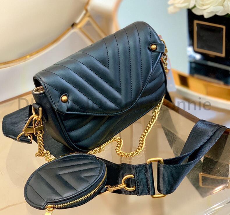 2021 Meilleurs luxurys designers L Mode Femme Crossbody Sac à rabat à bagages à main en cuir véritable Sac à bandoulière en cuir 2in 1 sac à main 5a sacs d'embrayage
