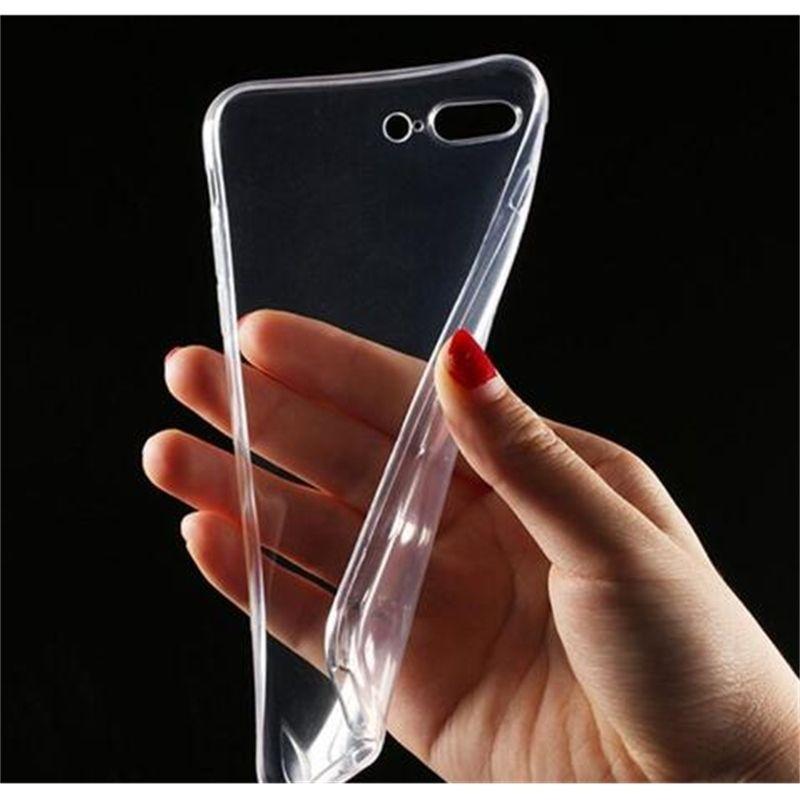Limpar casos de telefone TPU 0.3mm transparente ultra-fino macio para telefone xs max xr 8 7plus s10 e s9