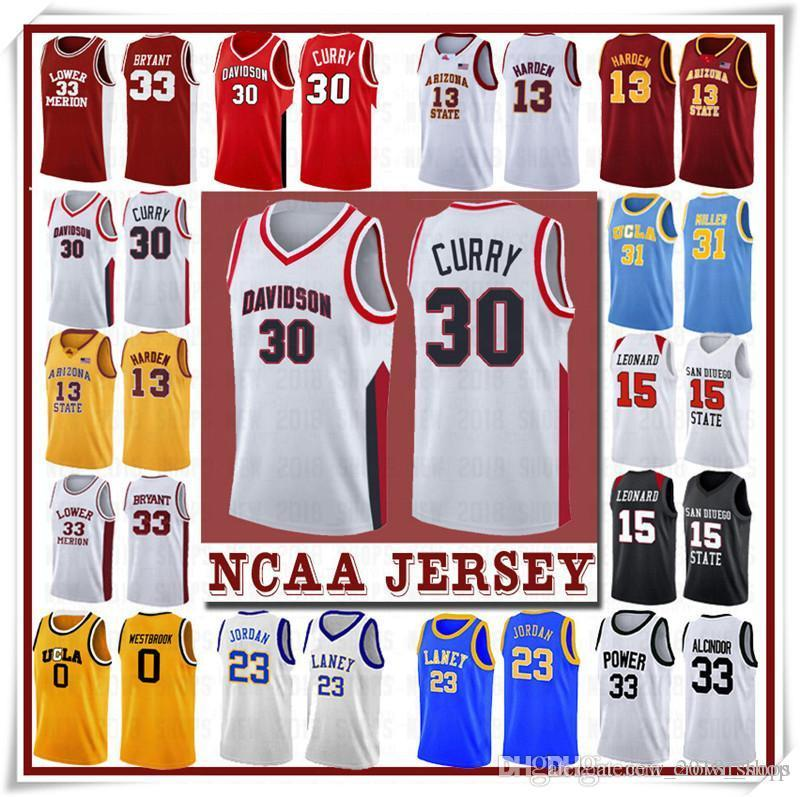 NCCA Jersey Kawhi Leonard James Wade Iverson Uomini Durant 13 Harden Curry Stephen College Basket Bull Baskeys Russell Westbrook Men17
