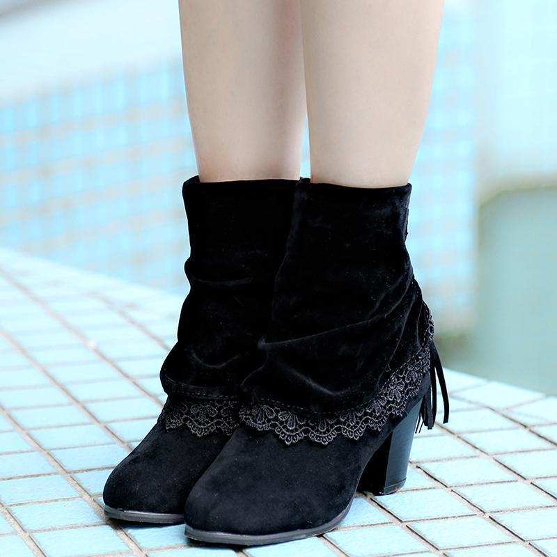 Primavera mulher plataforma botas sapatos mulher sapatos de borracha alta botas de borracha tassle sapatos outono inverno calçado feminino