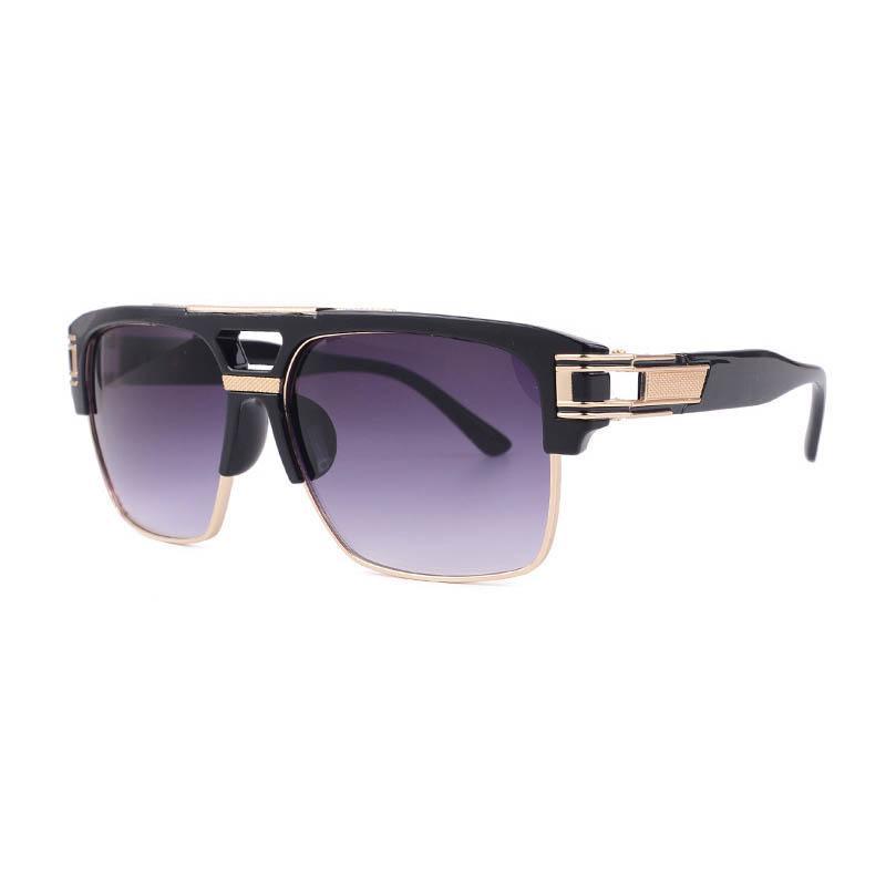 Mode Sonnenbrille für Männer und Frauen Anti-Blue-leichte Brillenrahmen Retro Luxus Designer Sonnenbrille 7 Farben Großhandel