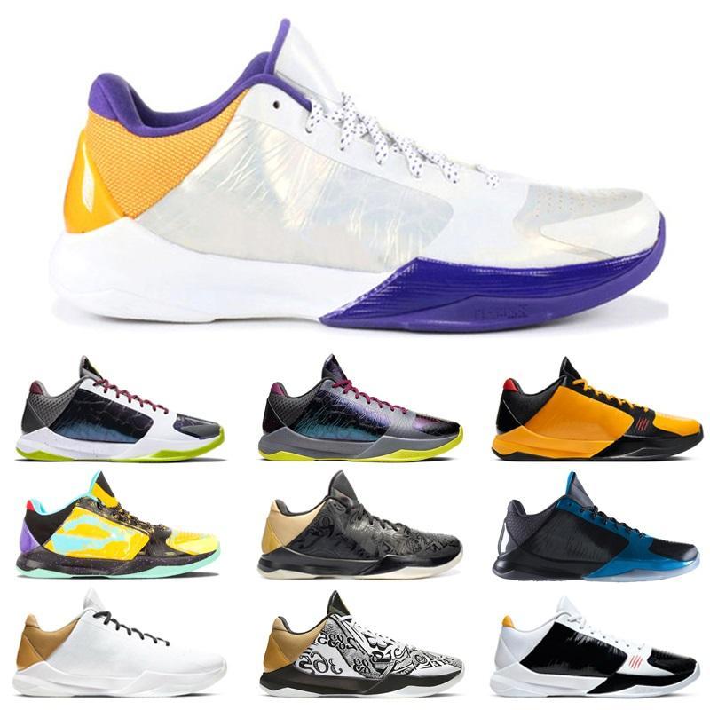 Más reciente 5 proto masculino bruce lee big stage pe zapatos de baloncesto caliente alternate la II 5s preludio entrenadores negros hombres zapatillas deportivas