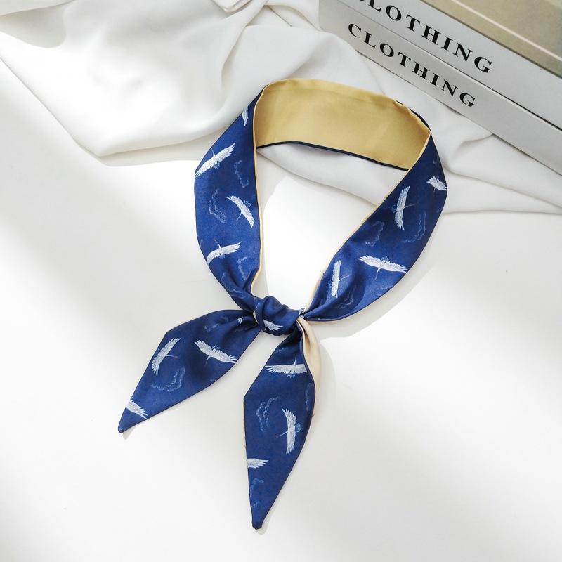 Versatile piccola sciarpa di seta stampata nuova moda seta sciarpa da donna stretta cinturino per capelli stretti decorativi modello modello snello snello