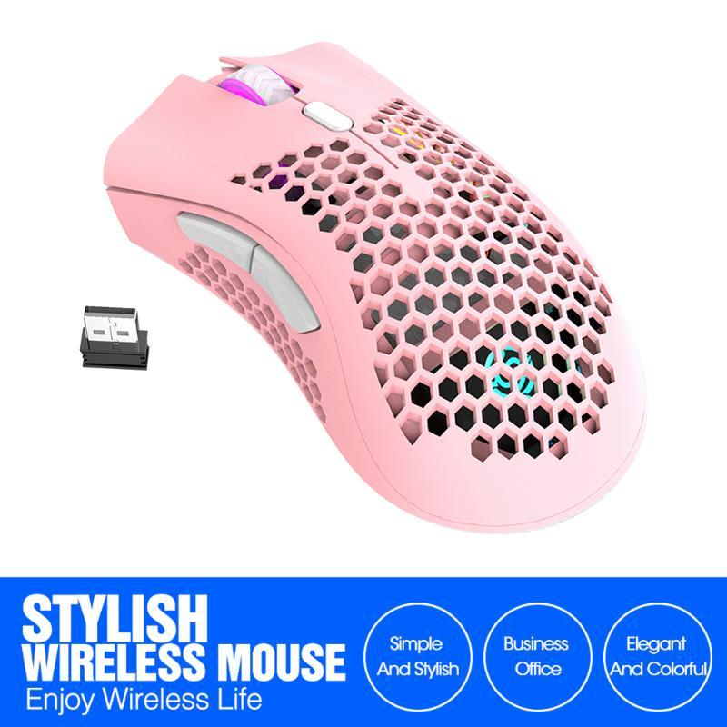 Rechargeable USB Wireless Wireless RVB Souris 2.4GHz 3 engrenages 1600 DPI Gamer MICE Office Notebook MICE MOUSE PRO GAMERS